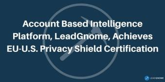 Account Based Intelligence Platform Eu-US Privacy Shield Certification