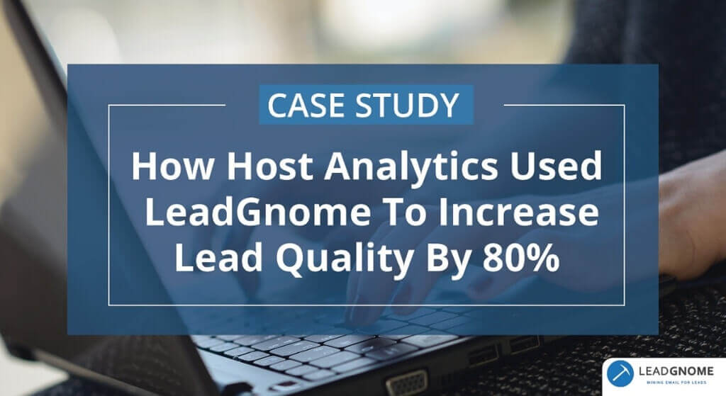 Case Study: Host Analytics - LeadGnome