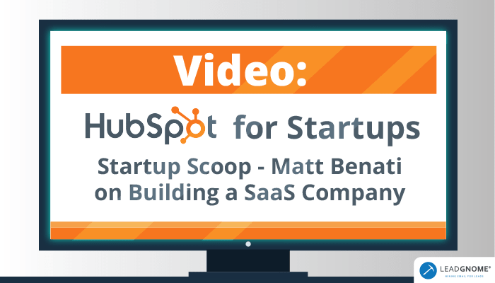 Video: HubSpot For Startups