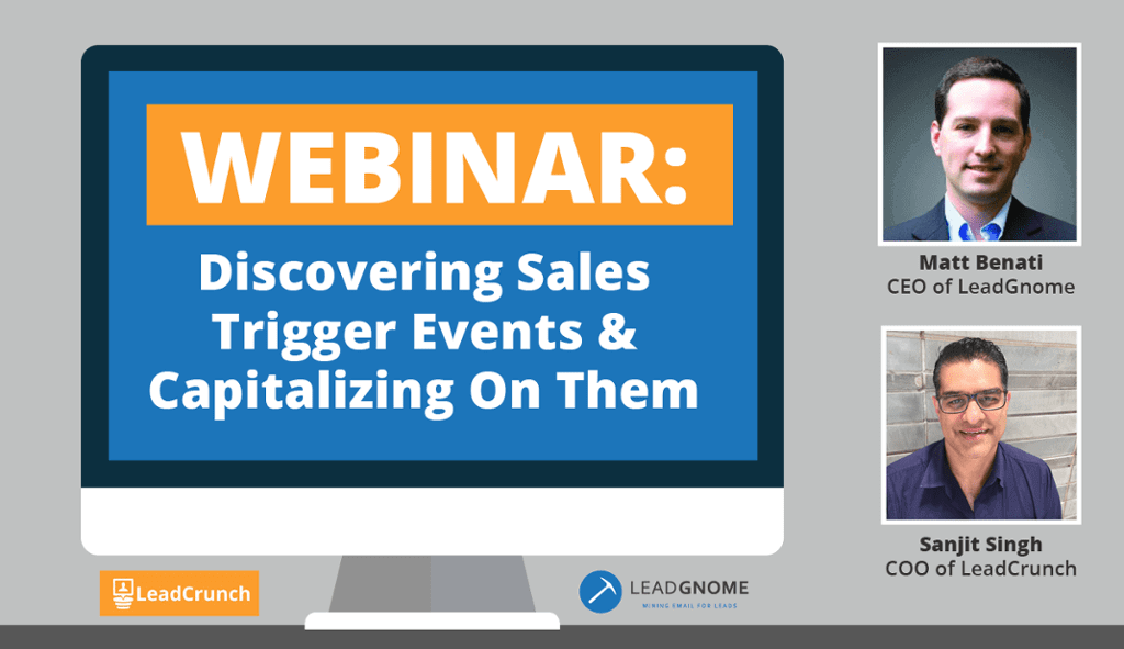 Webinar: Discovering Sales Trigger Events & Capitalizing On Them