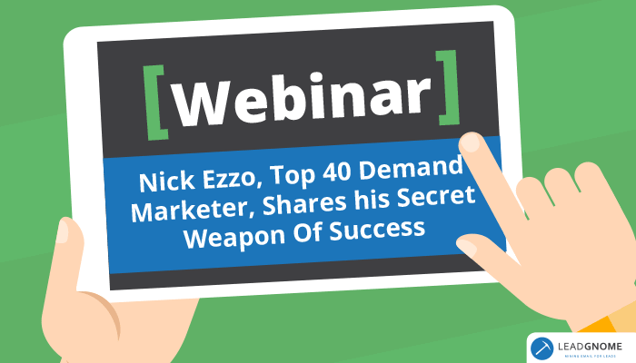 Webinar Nick Ezzo Shares Secret Success