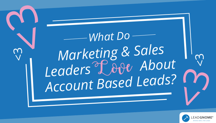 What Do Marketing Sales Leaders Love About Account Based Leads