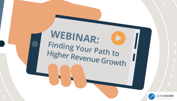 Webinar - Finding Your Path To Higher Revenue Growth