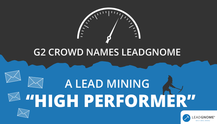 """G2 Crowd Names LeadGnome A Lead Mining """"High Performer"""""""