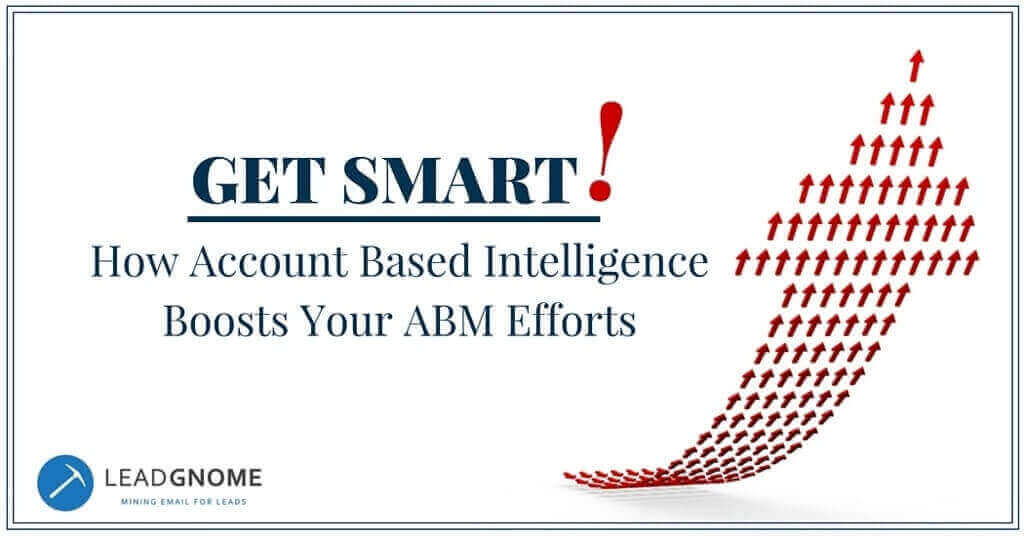 Get Smart! How Account Based Intelligence Boosts Your ABM Efforts