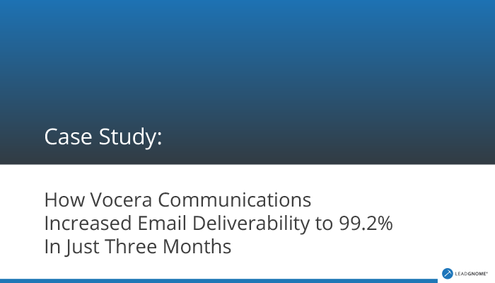 Case Study - Vocera Increases Email Deliverability