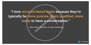 Matt Heinz Quote LeadGnome